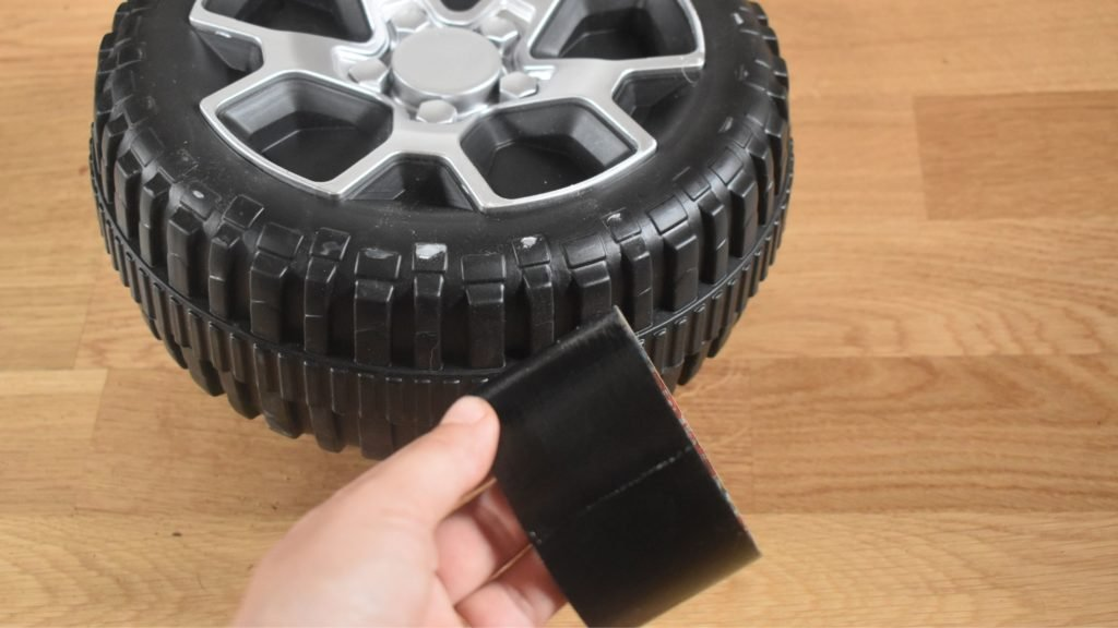 how to fix a cracked power wheel tire